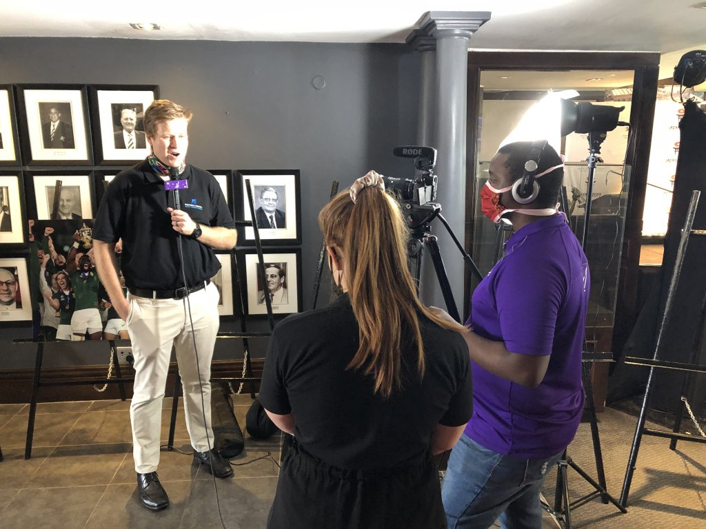 Devin of Hollywoodbets being interviewed